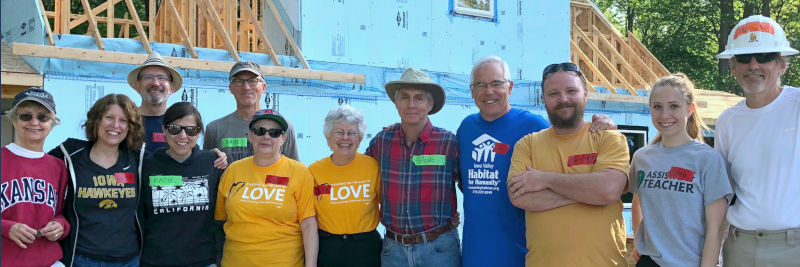 UUS members help construct a Habitat for Humanity home