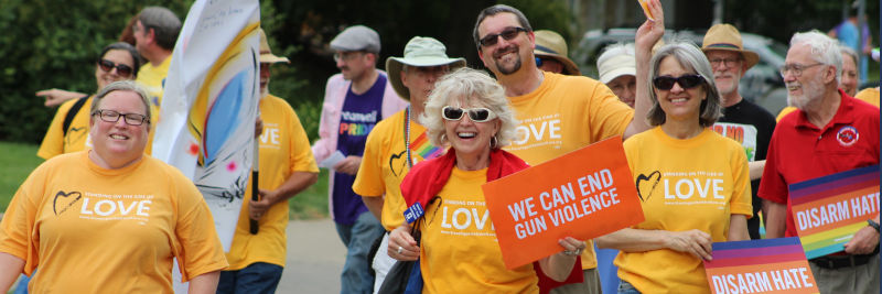 Unitarian Universalist Society marchers in Pride Parade