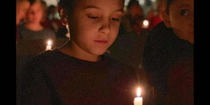 Christmas Eve candlelight service at Unitarian Universalist Society